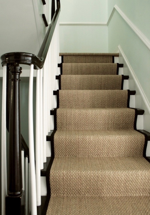 A Bad Fiber For A Stair Runner A Difficult Staircase Laurel Home | Stair Runners For Carpeted Stairs | Round Corner | Marble | Hardwood | Commercial | Tile Stair