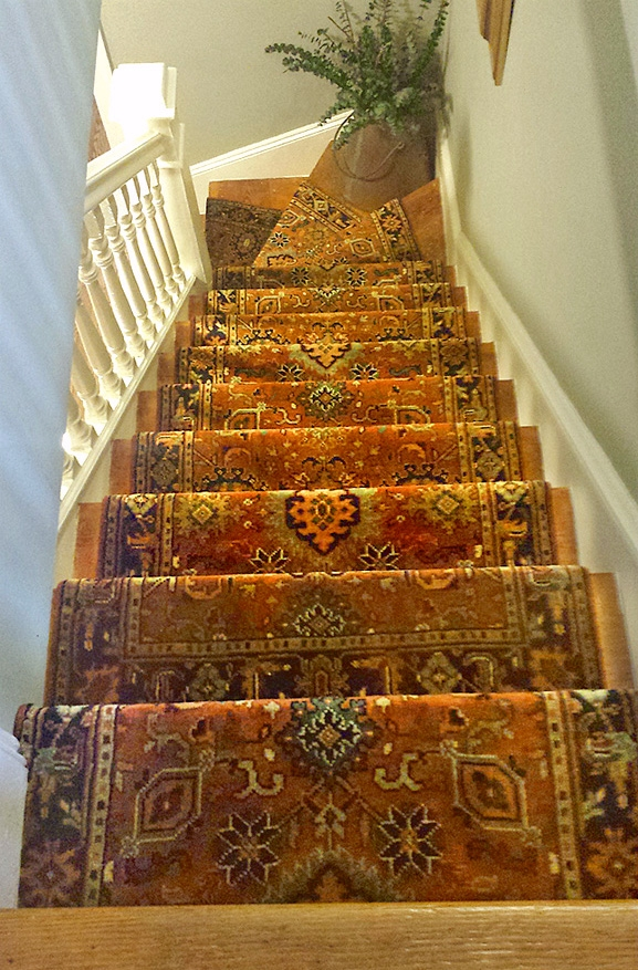 Stair Runners And The One Fiber You Should Never Use | Wool Carpet Stair Treads | Flooring | Zealand Wool | Beige Carpet | Cat Pet | Hardwood Stairs