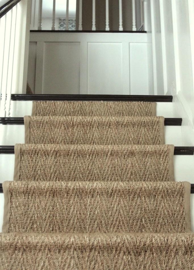 A Bad Fiber For A Stair Runner A Difficult Staircase Laurel Home   Stair Runners For Sale   Flooring   Stair Tread   Rug   Stair Carpet Runners   Tartan