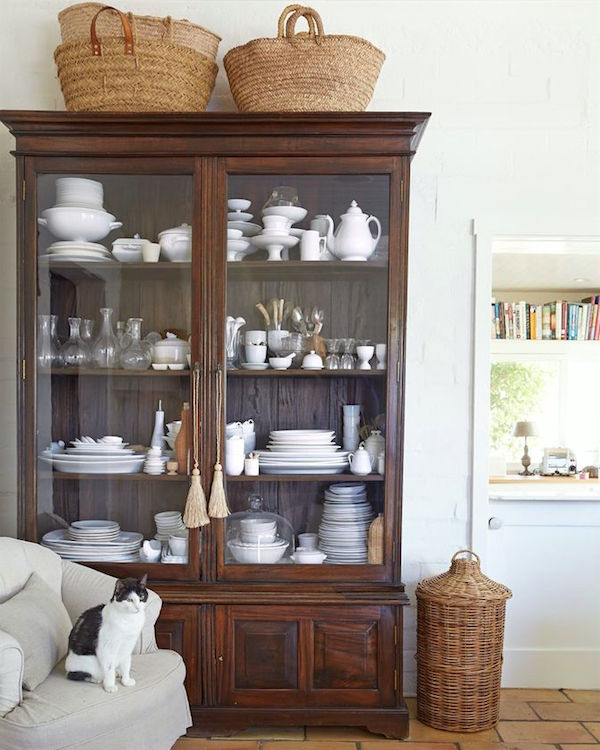 Baskets Above Kitchen Cabinets: How To Decorate Above China Cabinet
