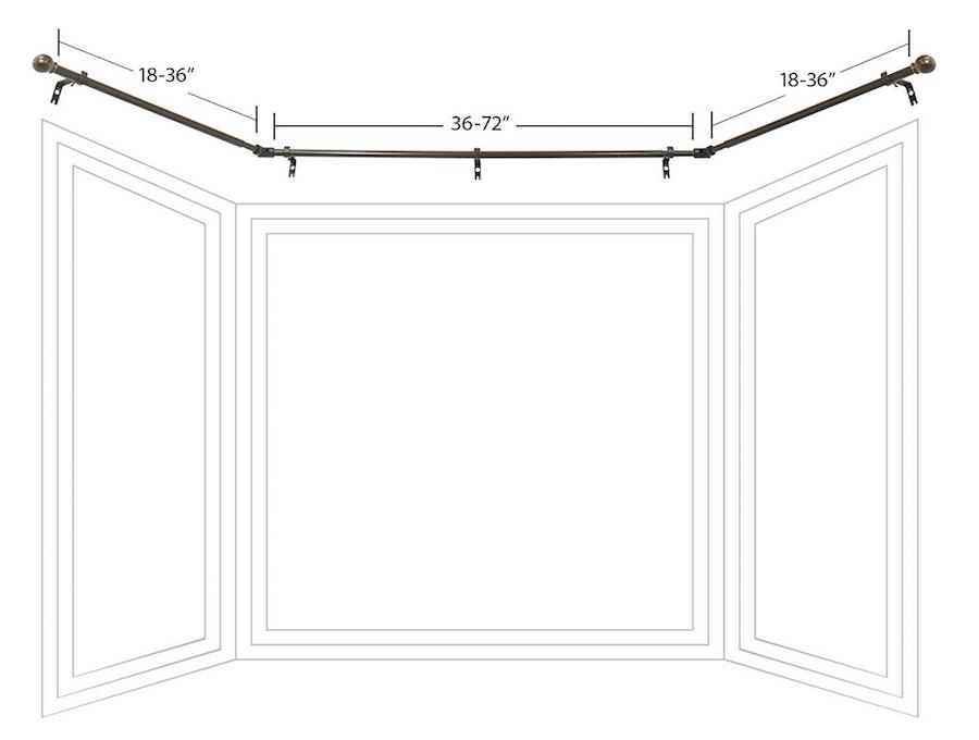 decopolitan drapery bay window curtain