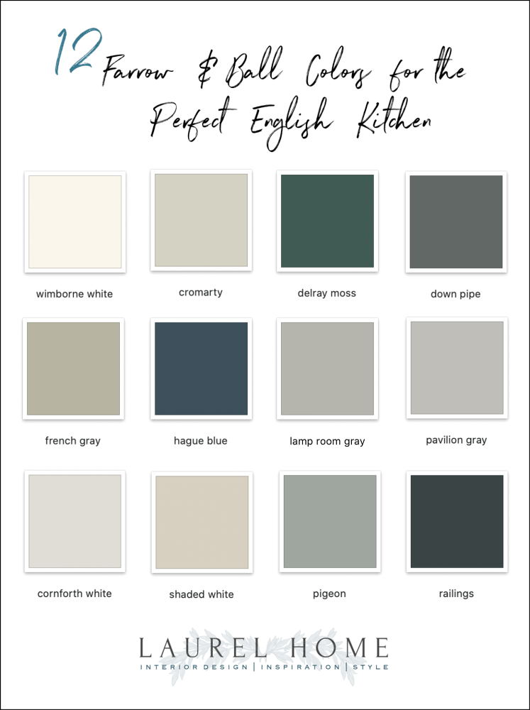 12 Farrow And Ball Colors For The Perfect English Kitchen Laurel Home
