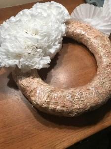 wreath in progress