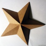 a photo of a star made with cardboard
