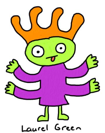 a doodle of an alien