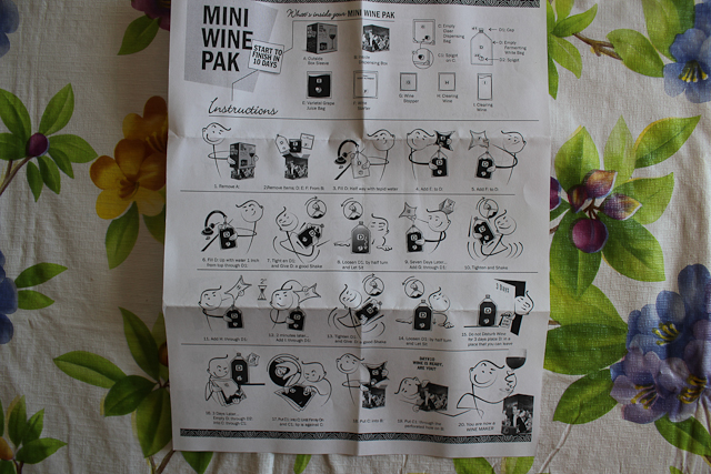 a photo of the mini wine pak instructions