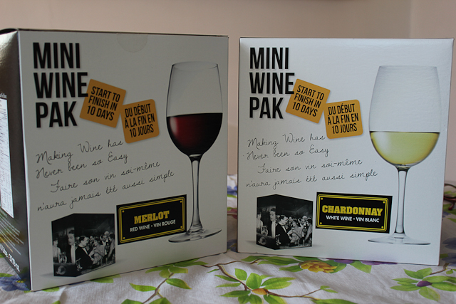 a photo of merlot and chardonnay mini wine pak boxes