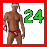 santa in a thong and the number 24