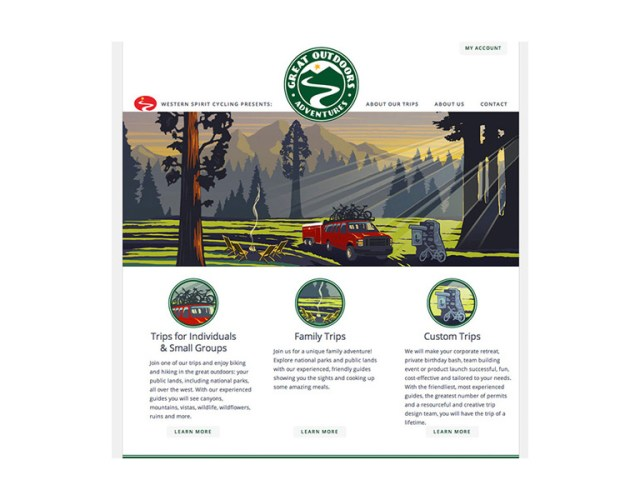 Great Outdoors Adventures website
