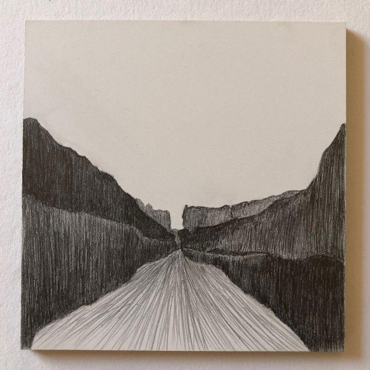 canyon drawing