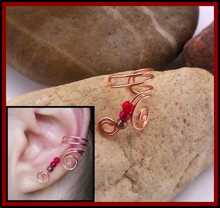 wire wrapped elaborate earcuff