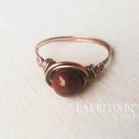 rode jaspis ring