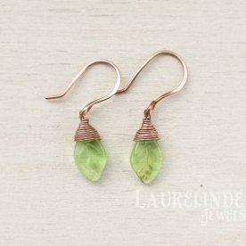 groene pixie oorbellen