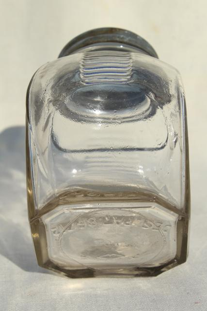 1930s Vintage Kitchen Canister Old Glass Candy Jar W