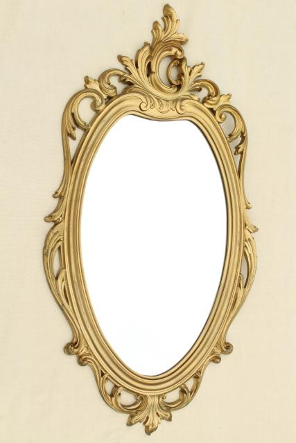 Cinderella French Brocante Style Vintage Wall Mirror Gold