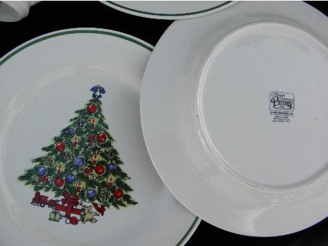 Mount Mt Clemens Pottery Dinner Plates Amp Mugs Christmas