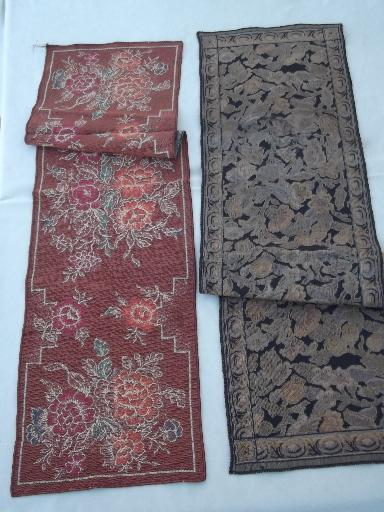 Collection Of Arts Amp Crafts Vintage Table Runners Brocade Amp Plush Tapestry