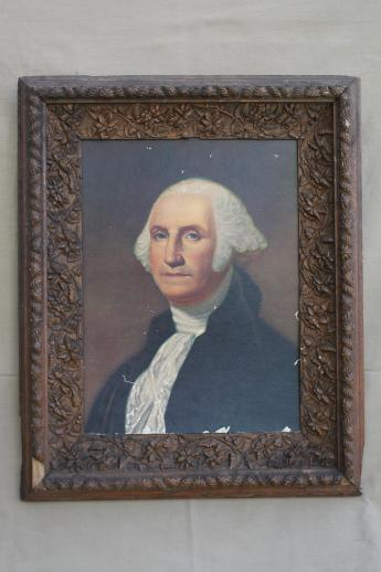 Huge Antique Frame With Early 1900s Vintage George