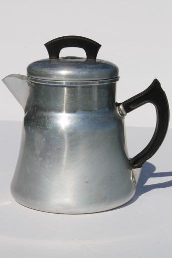 Vintage Montgomery Wards Stovetop Coffee Pot Percolator 2
