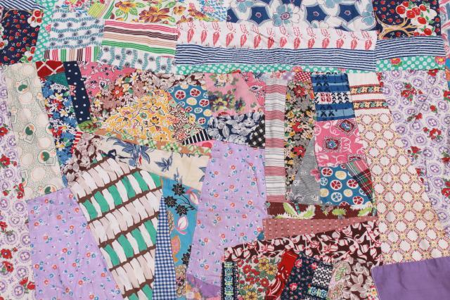 Vintage Crazy Quilt W All Cotton Prints Fun Cottage