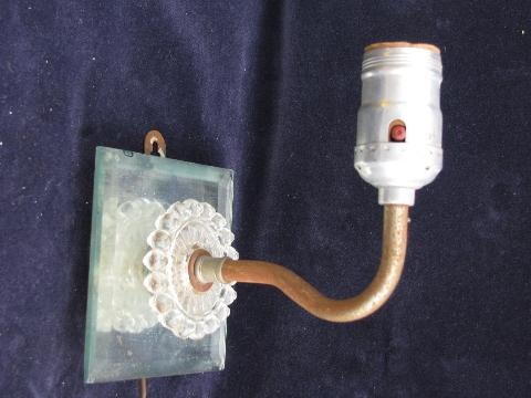 vintage glass wall lamp sconces, sconce light lot for ... on Wall Sconce Parts id=62440