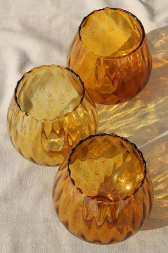 Vintage Hand Blown Art Glass Lamp Globes New Old Stock
