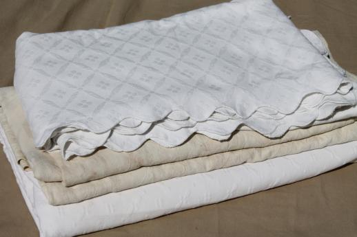 Vintage Matelasse Textured Cotton Bedspreads Or Bed Covers