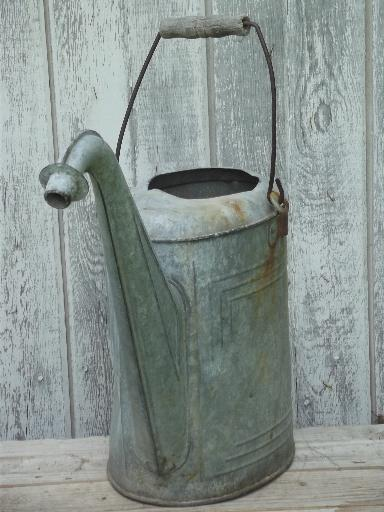 Vintage Radiator Water Can Galvanized Zinc Watering Can W