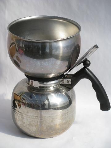 Vintage Stainless Steel Coffee Pot MirroCory Percolator