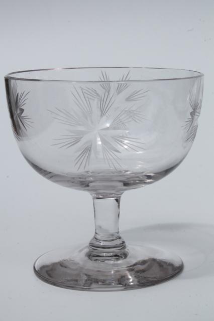 Vintage Star Pattern Glass Cocktail Set Pitcher Amp Glasses