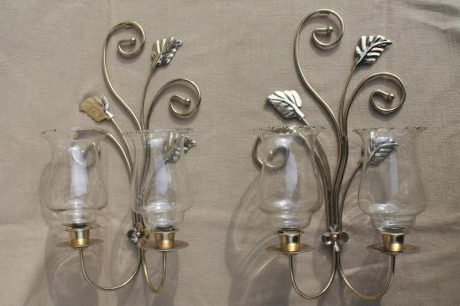 wall mount candle sconces, gold metal candle holder ... on Wall Mounted Candle Sconce id=36827