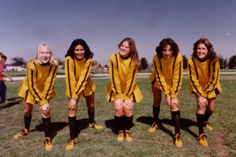 Freshman year at Archbishop Mitty High School .. yep, I was a cheerleader; 1974-75