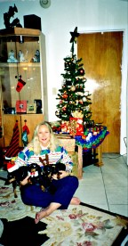 Christmas with the original Dachshund Mafia pack, 2000s