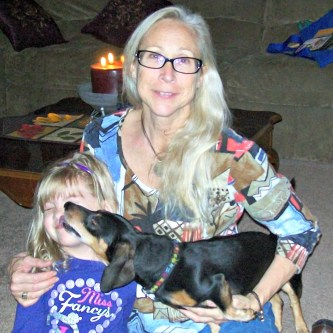 With Simone and the kids, November 2012
