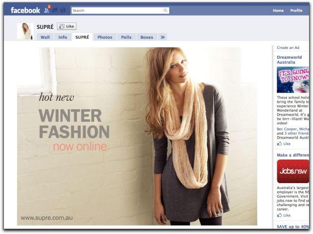 Supre Facebook page