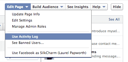 FB user Activity Log