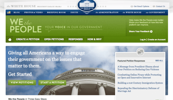 whitehouse petition social media