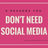 Blog 6 reasons you dont need social media