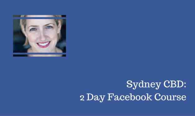 Facebook Course in Sydney 2018 – Workshop With Laurel Papworth
