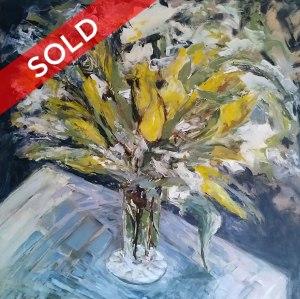 Yellow Tulips by Artist Diane Akey
