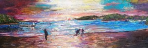 Evening at the Beach by Artist Margaret Kelm