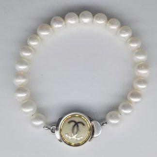 vintage designer button bracelet