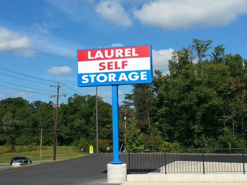 Laurel Self Storage Freestanding Sign