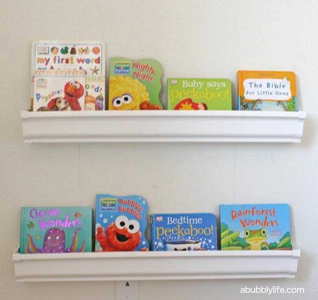 A Bubbly LifeKalia's Nursery Update- Rain Gutter Book