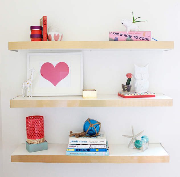 a bubbly lifediy ikea hack floating shelves color block a bubbly life rh abubblylife com colored floating shelves walnut colored floating shelves