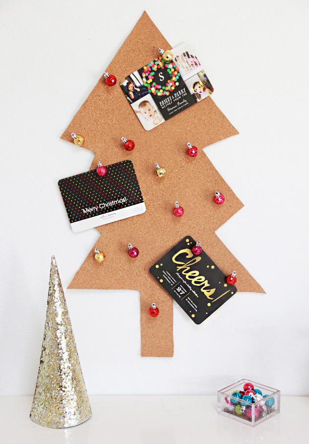 A Bubbly LifeDIY Christmas Tree Card Holder & Ornament Pushpins - A ...