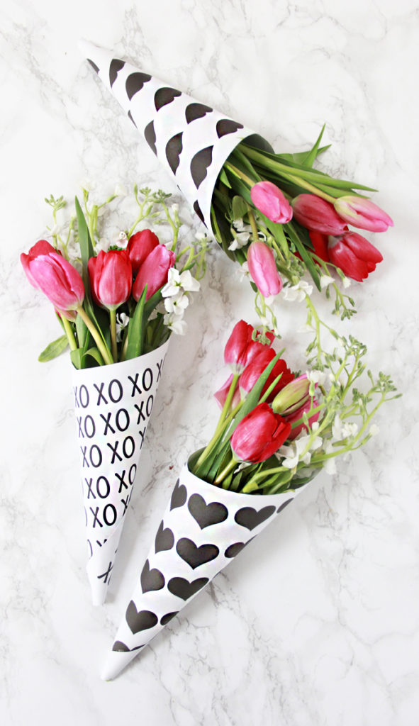 A Bubbly LifeDIY Valentine Free Printable Flower Bouquets - A Bubbly ...