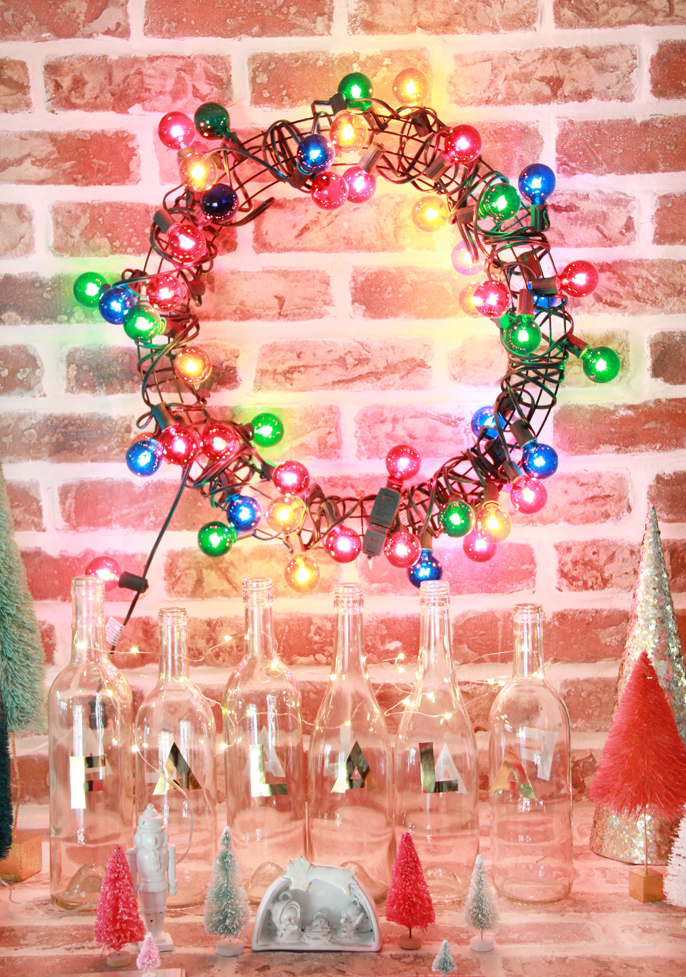 A Bubbly Lifediy Colorful Light Wreath A Bubbly Life