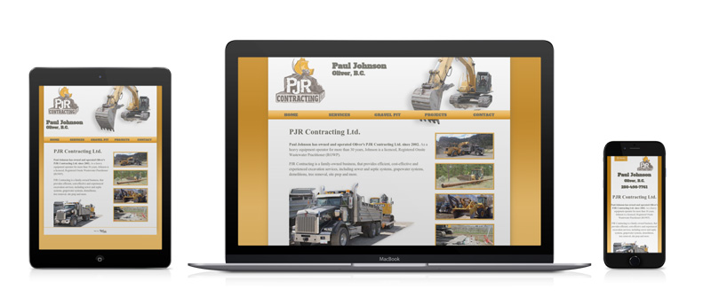 A photo of the PJR website