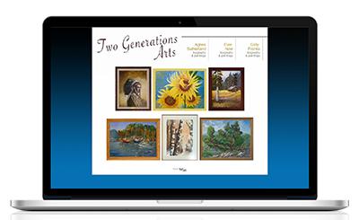 Two Generations Art Website
